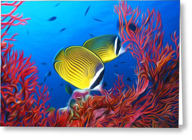 Environment Greeting Cards - Tropical fish Greeting Card by Lanjee Chee