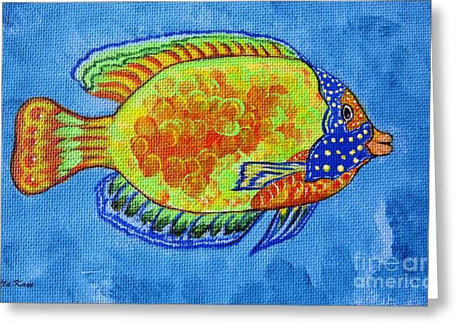 Tropical Fish Original Painting Greeting Card by Ella Kaye Dickey