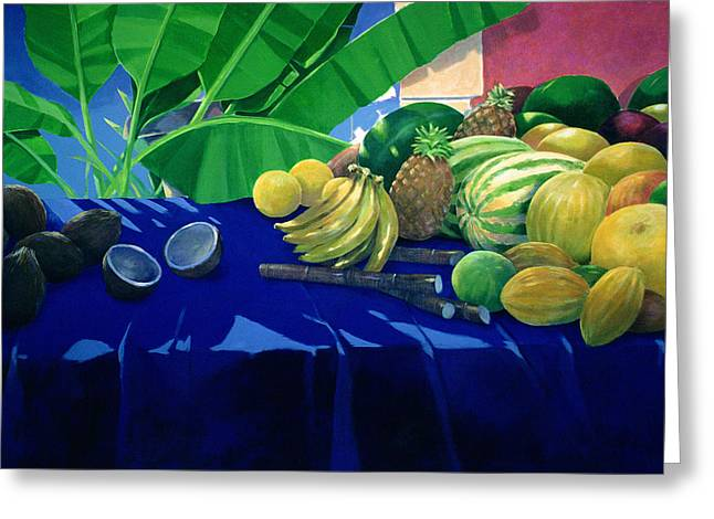 Tropical Fruit Greeting Card by Lincoln Seligman