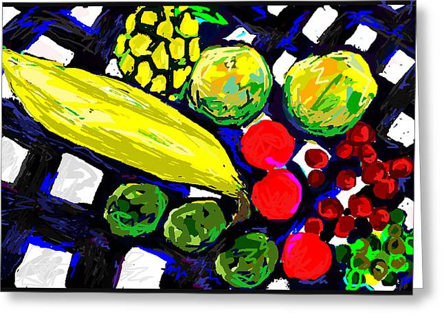 Tropical Fruits Still Life  Greeting Card by Paul Sutcliffe