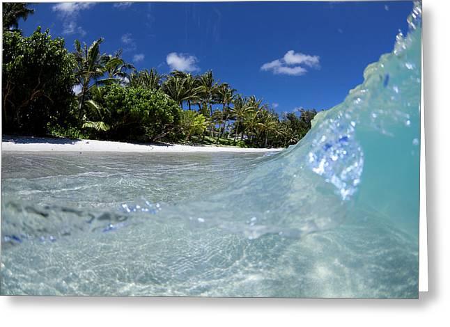 Beach Photo Greeting Cards - Tropical Glass Greeting Card by Sean Davey