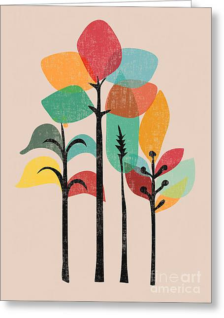 Modern Digital Greeting Cards - Tropical Groove Greeting Card by Budi Kwan