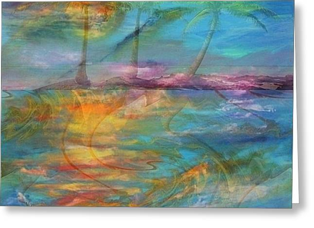 Haze Paintings Greeting Cards - Tropical Haze Greeting Card by PainterArtist FIN and Maestro