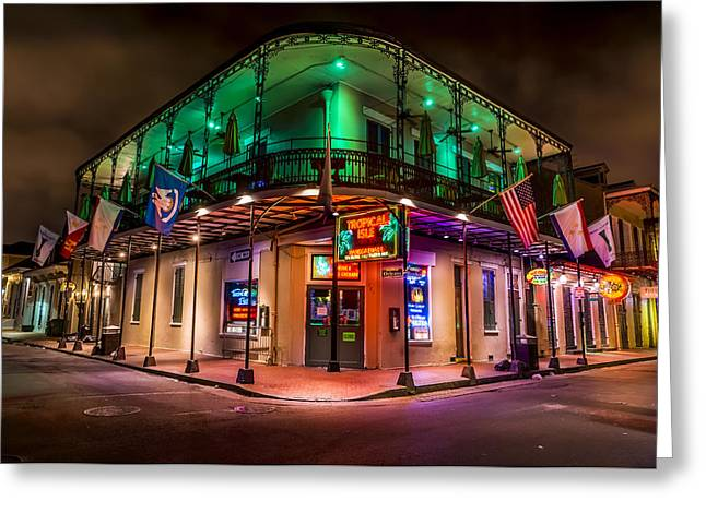 Mardis Greeting Cards - Tropical Isle in New Orleans Greeting Card by David Morefield