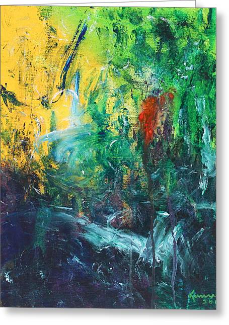 Water Flowing Greeting Cards - Tropical Journey 3 Greeting Card by Kume Bryant