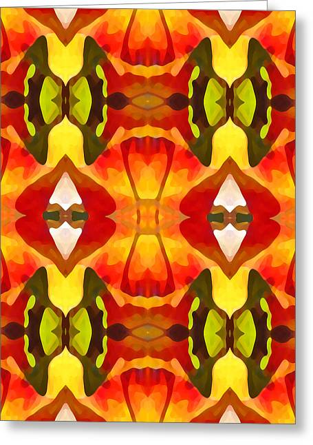 Botanical Greeting Cards - Tropical Leaf Pattern  9 Greeting Card by Amy Vangsgard
