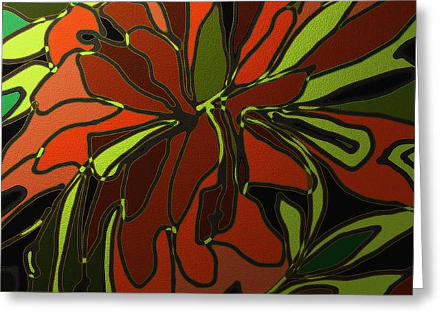 Shesh Tantry Greeting Cards - Tropical Leaves Greeting Card by Shesh Tantry