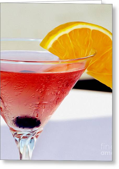 Mixed Drink Greeting Cards - Tropical Martini Greeting Card by Jon Neidert