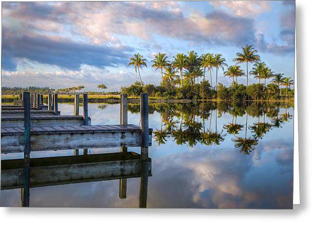 Foggy Beach Greeting Cards - Tropical Morning Greeting Card by Debra and Dave Vanderlaan