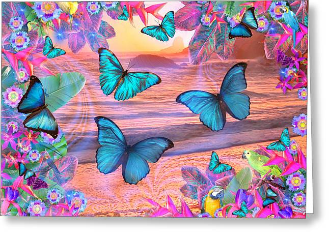 Alixandra Mullins Greeting Cards - Tropical Morpheus Greeting Card by Alixandra Mullins