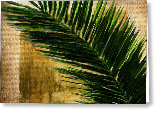 Southeast Asia Greeting Cards - Tropical Palm Greeting Card by Lourry Legarde
