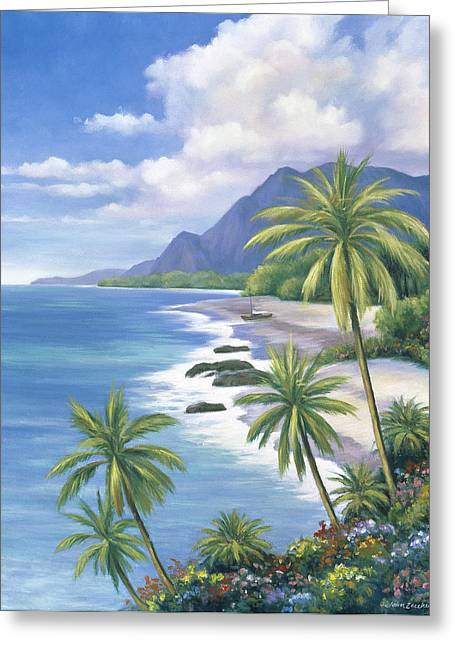 Zaccheo Greeting Cards - Tropical Paradise 2 Greeting Card by John Zaccheo