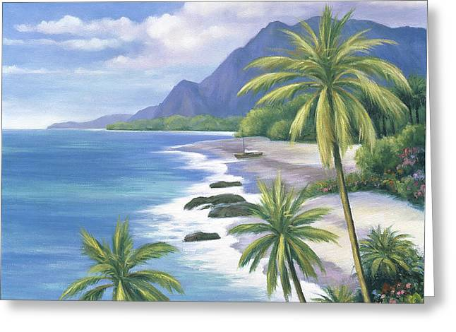 Tropical Paradise 2 Greeting Card by John Zaccheo