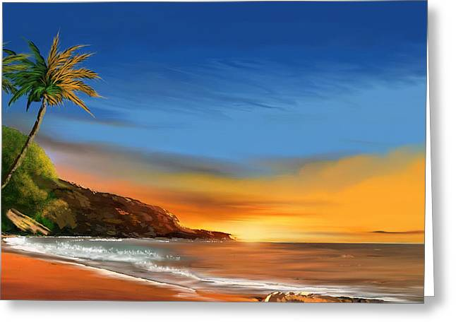Tropical Paradise Greeting Card by Anthony Fishburne