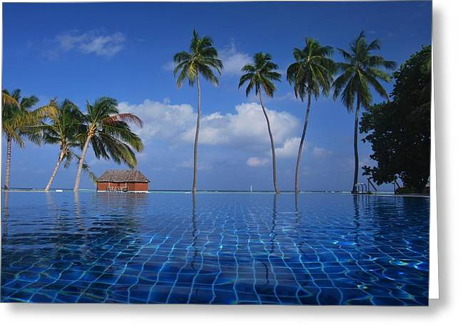 Ocean. Reflection Greeting Cards - Tropical Paradise Greeting Card by Mountain Dreams