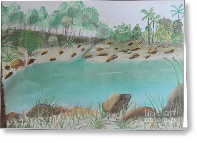 Pamela Meredith Greeting Cards - Tropical Pond on the Gold Coast Greeting Card by Pamela  Meredith