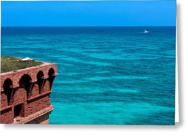 Dry Tortugas Greeting Cards - Tropical Seas Off Fort Jefferson Greeting Card by John Bailey