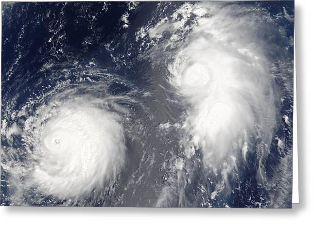 August 22 Greeting Cards - Tropical storms, 2005 Greeting Card by Science Photo Library