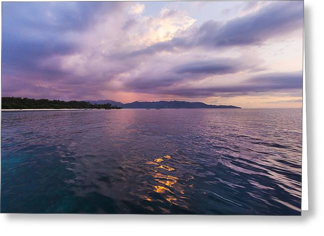 Tranquil Scene Escapism Greeting Cards - Tropical Sun Set Seascape Greeting Card by Marcos Welsh