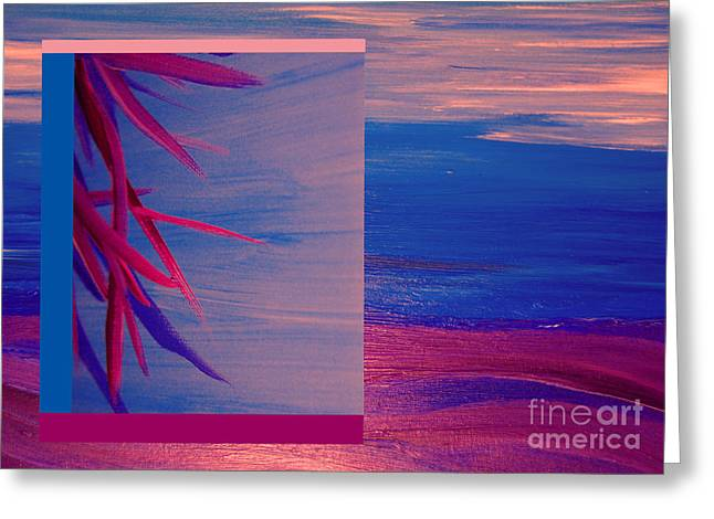 Fushia Mixed Media Greeting Cards - Tropical Sunrise by jrr Greeting Card by First Star Art