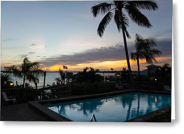 Tropical Sunrise Greeting Card by Margaret Pitcher