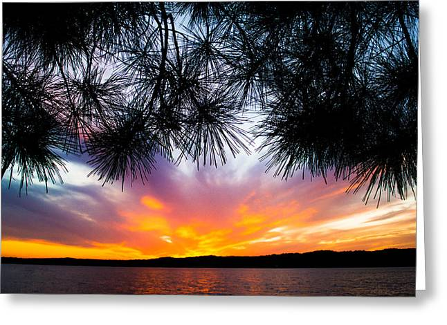 Tropical Island Greeting Cards - Tropical Sunset  Greeting Card by Parker Cunningham