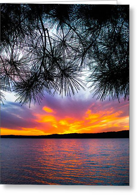 Tropical Island Greeting Cards - Tropical Sunset Vertical Greeting Card by Parker Cunningham