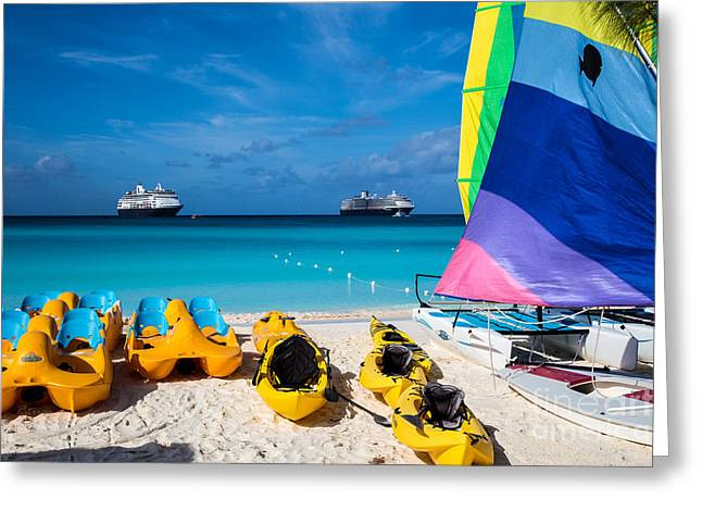Toy Boat Greeting Cards - Tropical Toys Greeting Card by Rene Triay Photography
