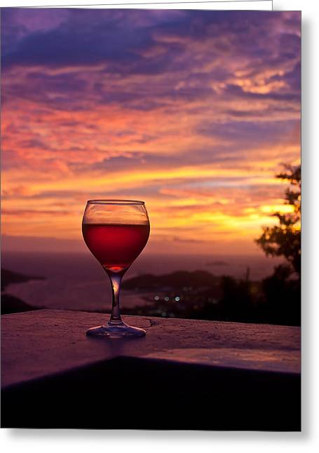 Wine Scene Greeting Cards - Tropical Wine Greeting Card by Jared Shomo