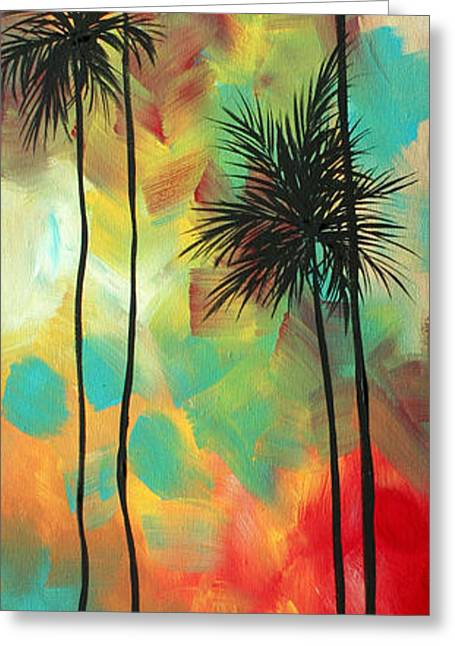 Tropics By Madart Greeting Card by Megan Duncanson