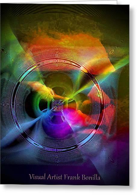 Mind Split Greeting Cards - Troubled Mind Greeting Card by Visual Artist  Frank Bonilla
