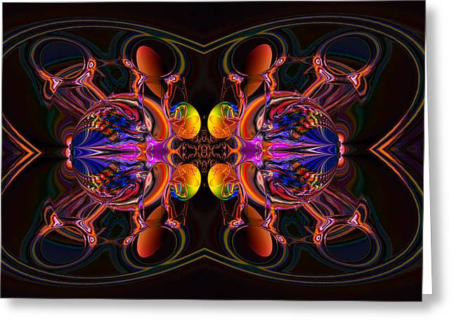 Generative Abstract Greeting Cards - Troubling encounter Greeting Card by Claude McCoy