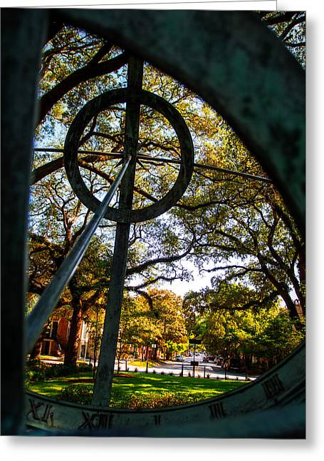 Mccoy Greeting Cards - Troup Square Armillary Greeting Card by A Different Brian Photography