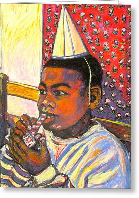 African-american Pastels Greeting Cards - Troy Greeting Card by Kendall Kessler