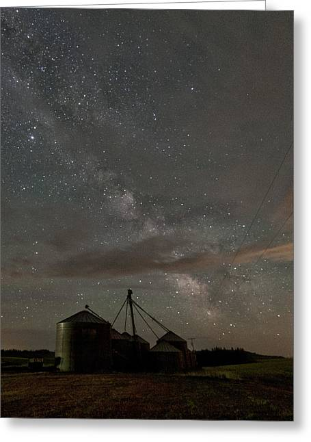 Grain Greeting Cards - Troy Milky Way Greeting Card by Latah Trail Foundation