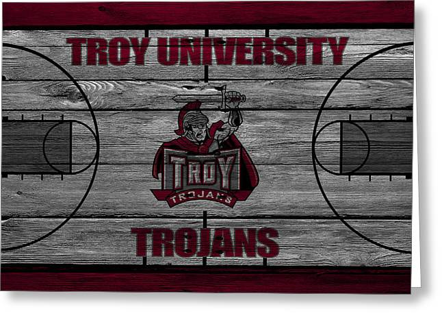 March Greeting Cards - Troy University Trojans Greeting Card by Joe Hamilton