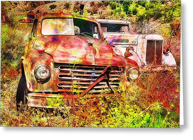 Truck Abstract Greeting Card by Robert Jensen