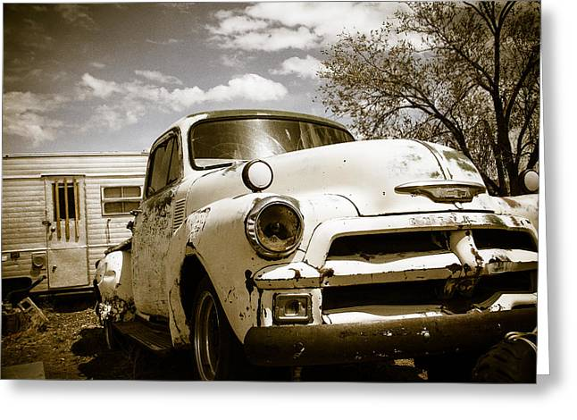 Pickup Greeting Cards - Truck and Trailer Greeting Card by Steven Bateson