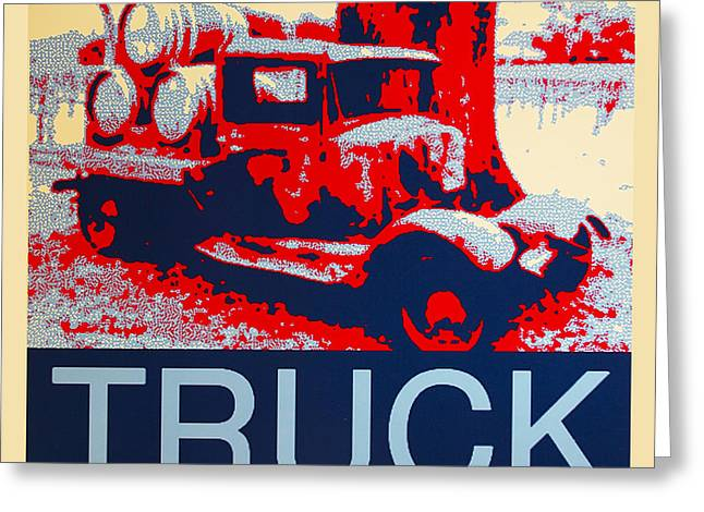 Old Trucks Greeting Cards - Truck Greeting Card by Barbara Snyder