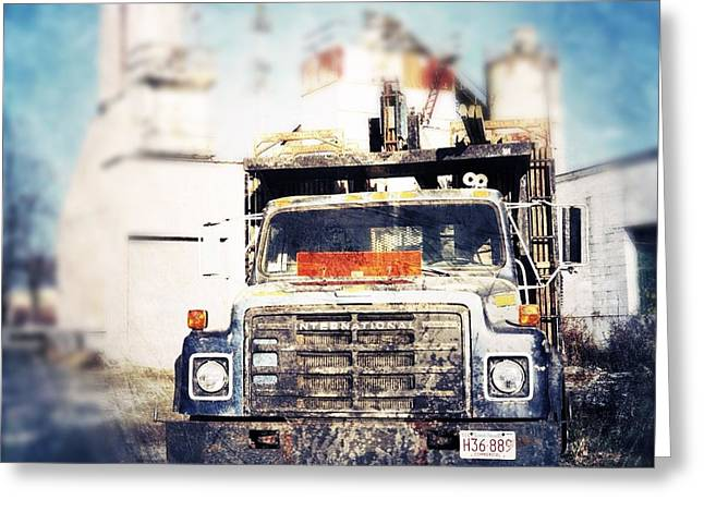 Blue Truck Greeting Cards - Truck Greeting Card by HD Connelly