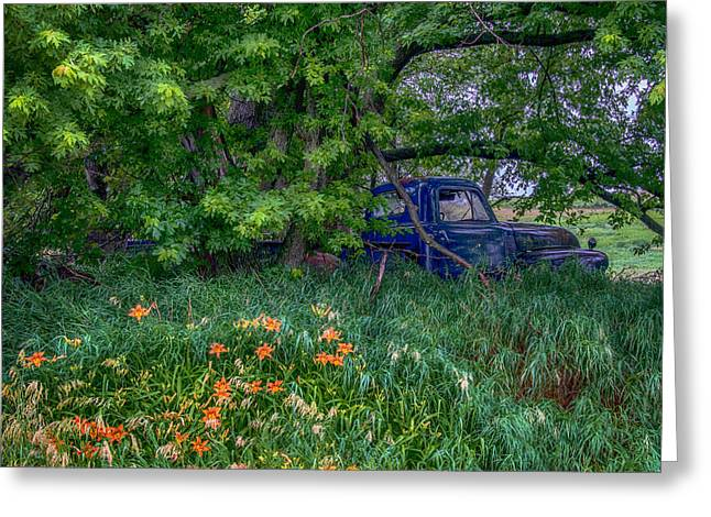 Oldies Greeting Cards - Truck In The Forest Greeting Card by Paul Freidlund