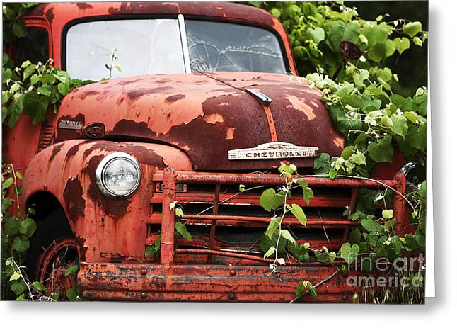 Old Trucks Greeting Cards - Truck Greeting Card by John Rizzuto