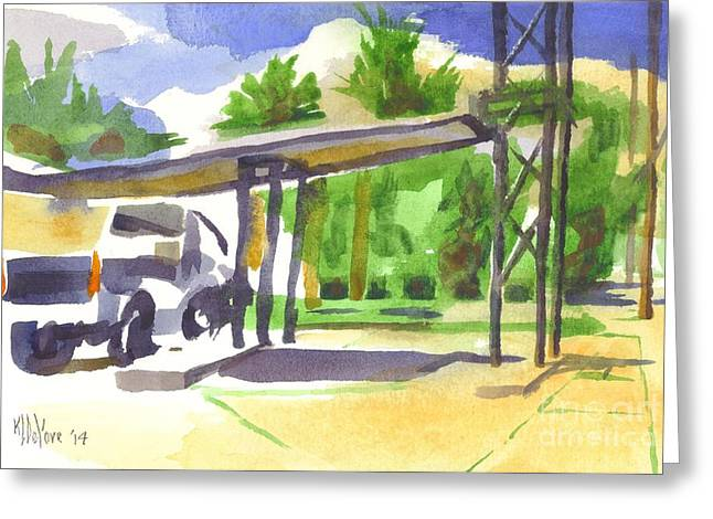 Small Town Life Greeting Cards - Truck Stop Greeting Card by Kip DeVore