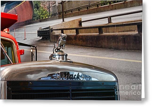 Manufacturing Greeting Cards - Truck - The MACK Bulldog Greeting Card by Paul Ward