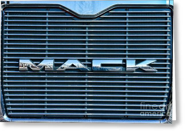 Manufacturing Greeting Cards - Truck - The MACK Grill Greeting Card by Paul Ward