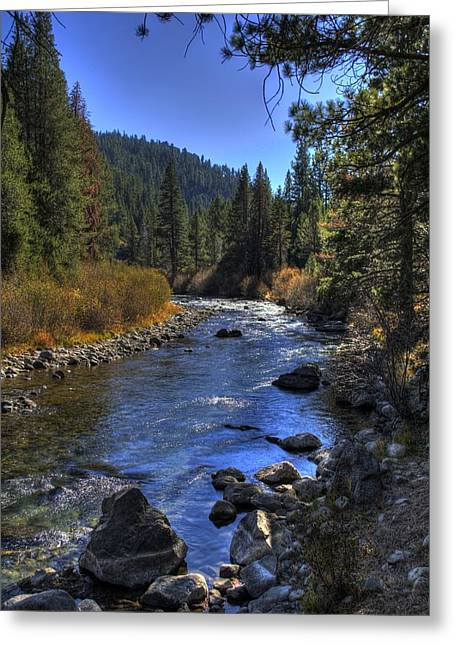 Truckee River Greeting Card by Ren Alber