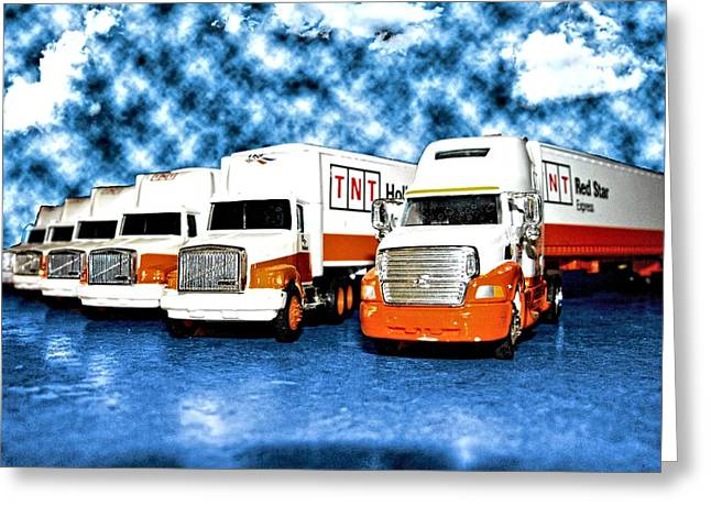 Usf Greeting Cards - Truckin Greeting Card by Kristie  Bonnewell