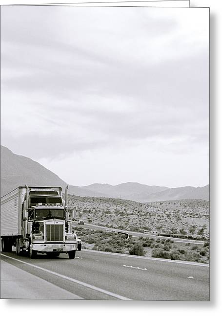 Californian Greeting Cards - Trucking Across America Greeting Card by Shaun Higson