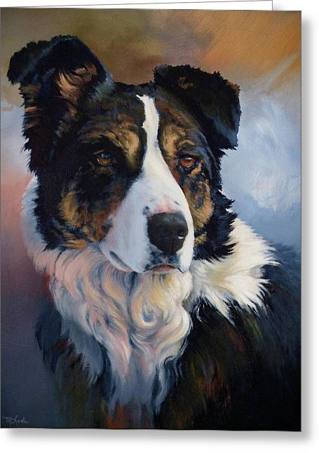 Art Of Mia Delode Greeting Cards - Trudy Greeting Card by Mia DeLode