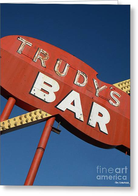 Food Digital Greeting Cards - Trudys Bar Greeting Card by Jim Zahniser